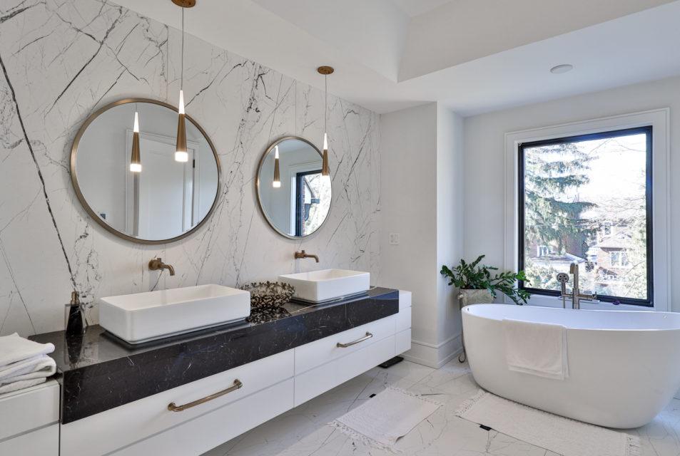 Ремонт коттеджей  - фото ванной